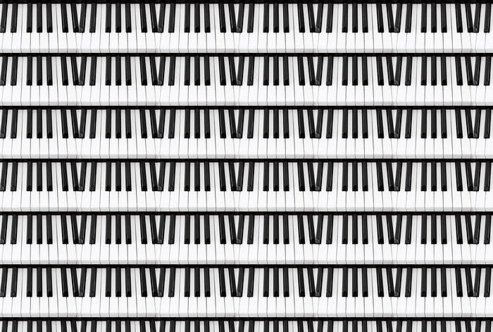 Vinylová Tapeta Piano Keys Closeup - Hudba