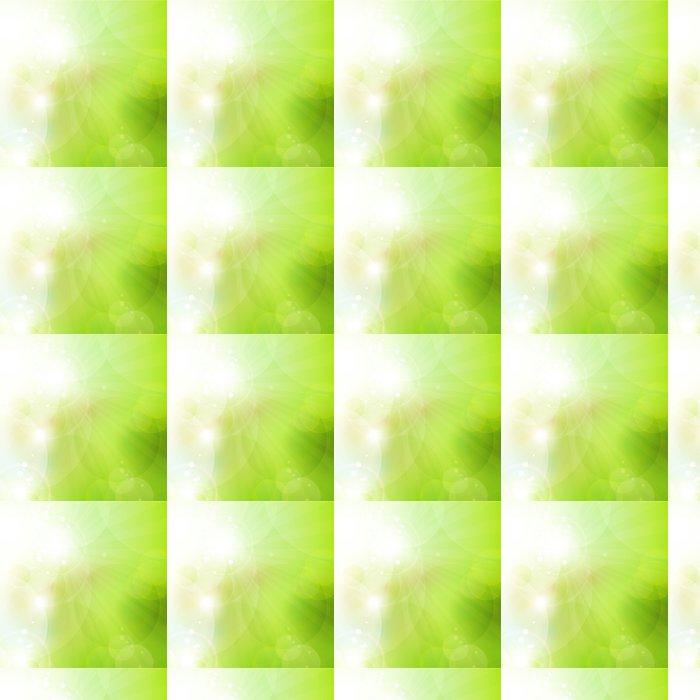 Vinylová Tapeta Abstraktní zelené bokeh pozadí s osvětlením - Roční období