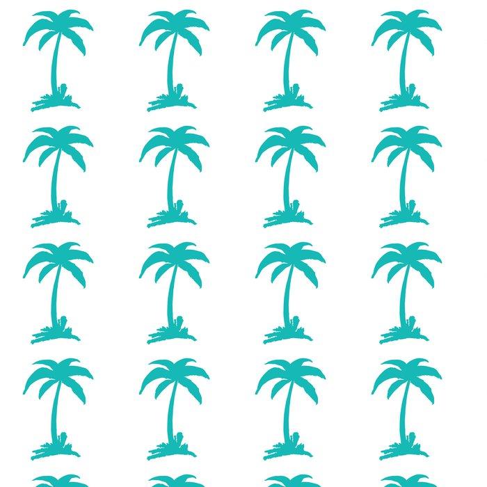 Vinylová Tapeta Coconut Tree - Nálepka na stěny