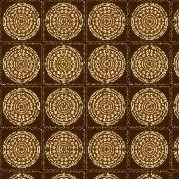 Vinylová Tapeta Orientální arabesque vzor zlato -