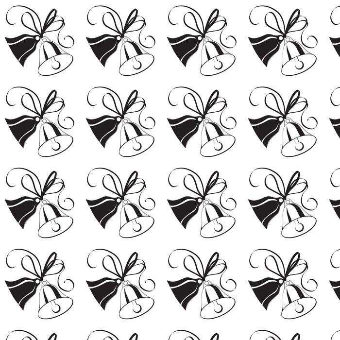 Tapete Bell-Skizze für Weihnachten oder Hochzeit mit Bogen • Pixers ...