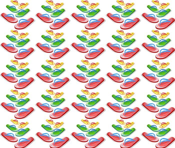 Papier peint à motifs vinyle Pantoufles vectorielle - Vacances