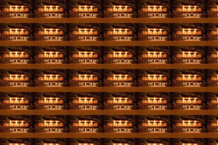 Vinylová Tapeta Mystické Mayský chrám v džungli v noci - Amerika