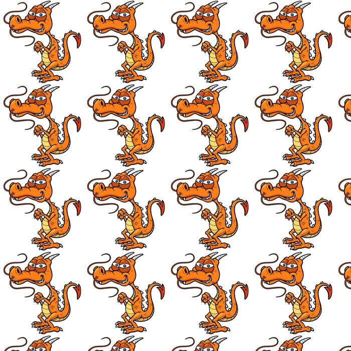 Vinylová Tapeta Vektorové ilustrace Cartoon draka - Nálepka na stěny