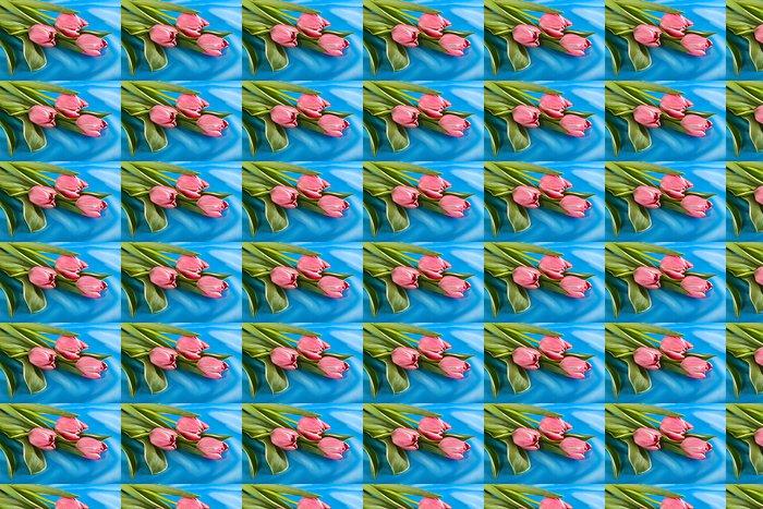 Vinylová Tapeta Kytice z tulipánů pestrých - Květiny