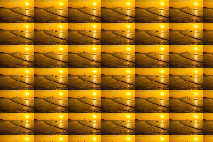 Vinylová Tapeta Zlaté slunce nad mořem - Střední Východ