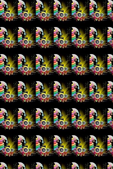 Vinylová Tapeta DJ music - Pozadí