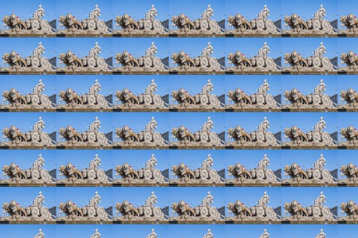 Vinylová Tapeta Fontána Cibeles v Madridu, Španělsko. - Evropská města