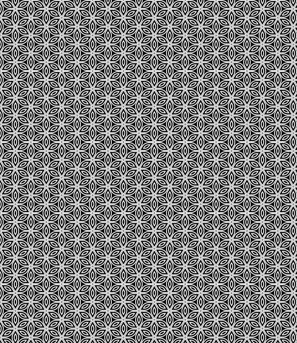 Vector Modern Seamless Sacred Geometry Pattern , Black And