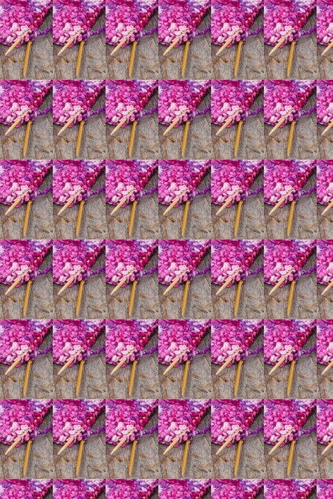 Vinylová Tapeta Barevné růžové a fialové pletení a dřevěné jehly - Domov a zahrada