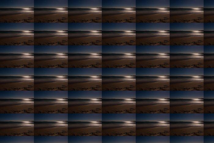 Vinylová Tapeta Romantická měsíční svit ocesn písčité pláže, dlouhé expozice - Voda