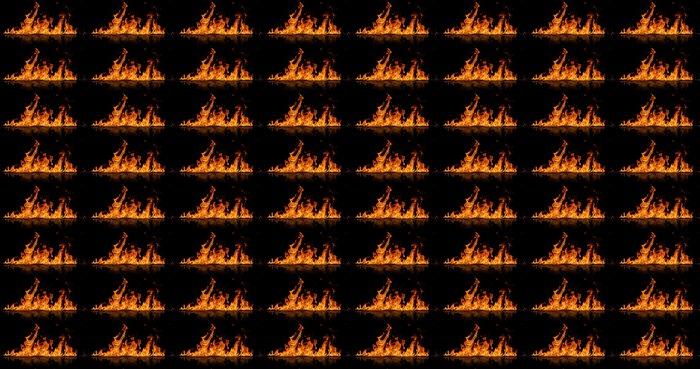 Vinylová Tapeta Plameny ohně, izolovaných na černém pozadí - Přírodní katastrofy