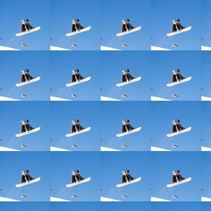 Vinylová Tapeta Zimní sporty - Snowboard a lyžování