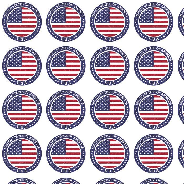 Vinylová Tapeta Grunge kolo razítko Spojených států amerických - USA - Značky a symboly