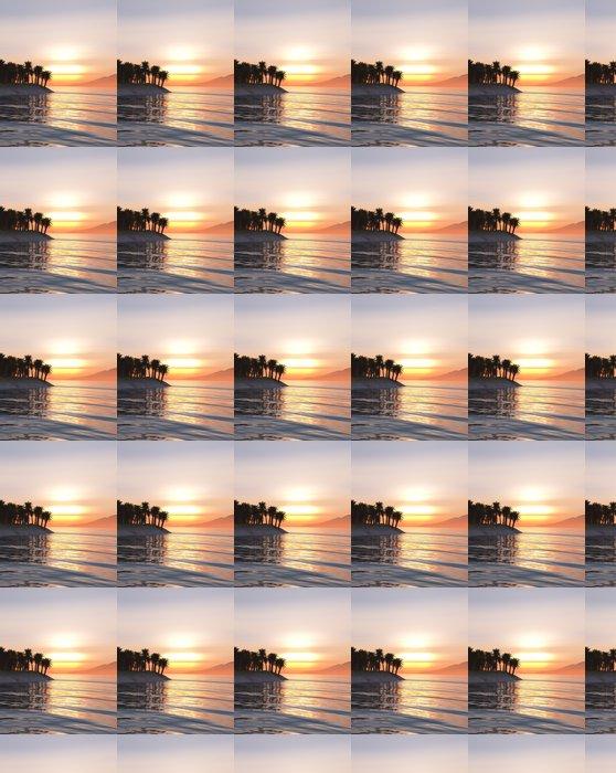 Vinylová Tapeta Tropické slunce - Ostrovy