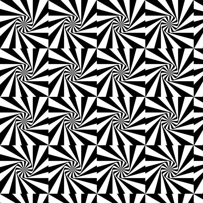 tapete illusion schwarz wei muster - Tapete Schwarz Wei Muster