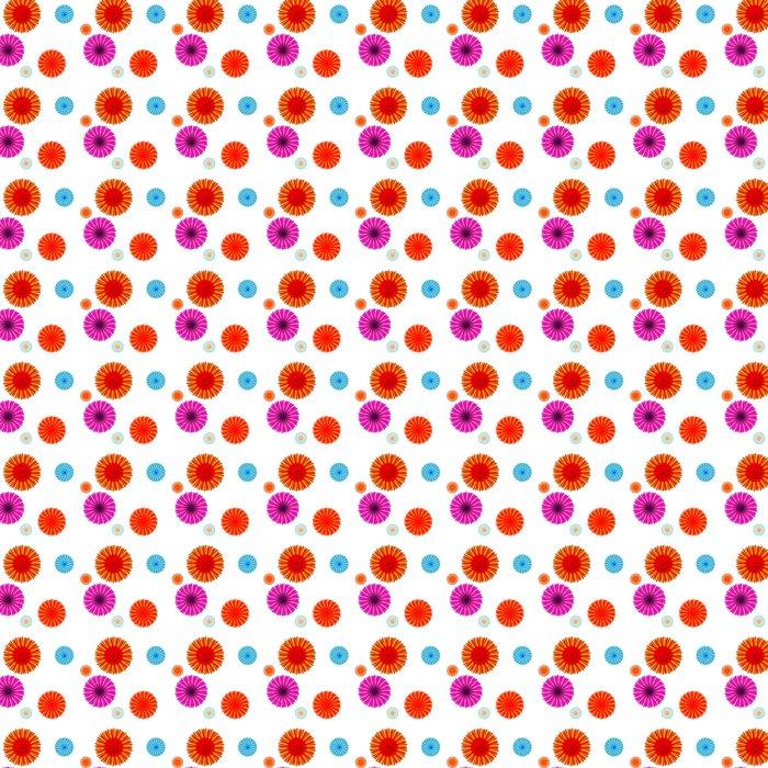 Vinylová Tapeta Abstraktní barevné pozadí s květinami. Bezešvé vzor. vec - Život