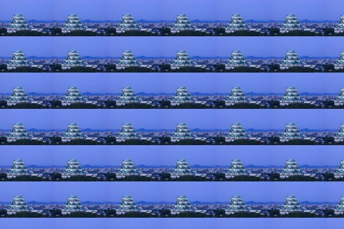 Vinyltapete 名古屋 城 と 名古屋 の 街 並 -
