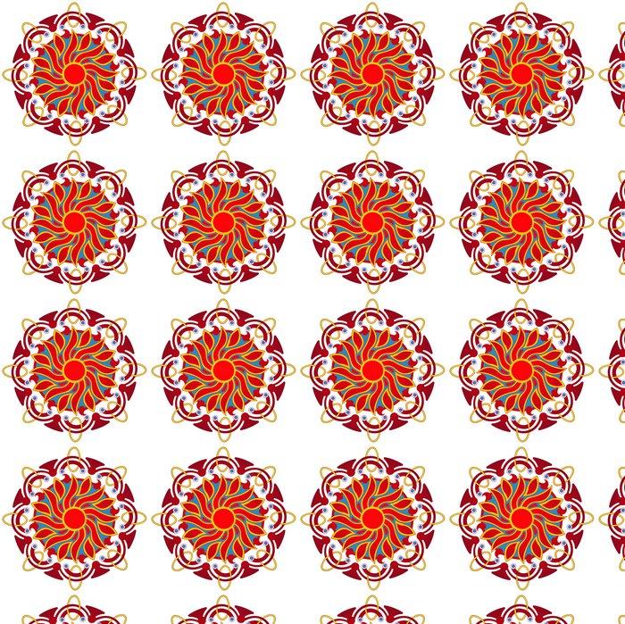 Vinylová Tapeta Planoucí sluneční mandaly - Nálepka na stěny