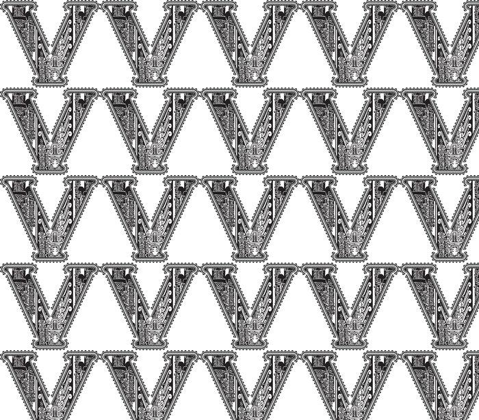 Vinylová Tapeta Starověké písmeno V. vektorové ilustrace - Amerika
