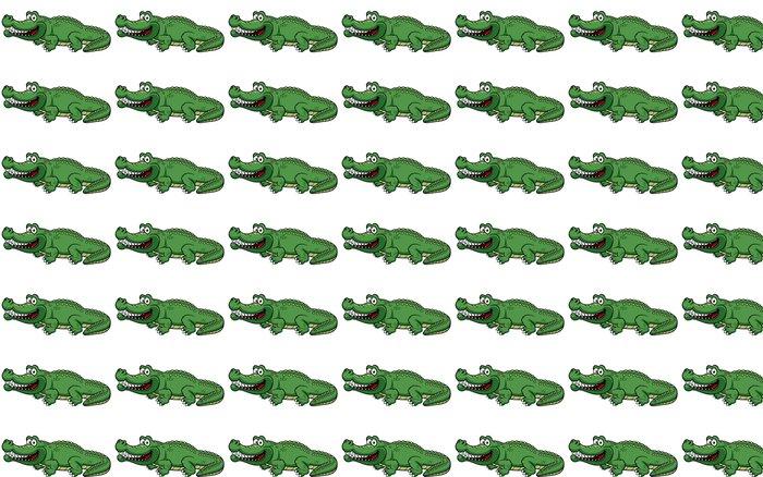 Vinylová Tapeta Ilustrace Cartoon krokodýl vektoru - Ostatní Ostatní