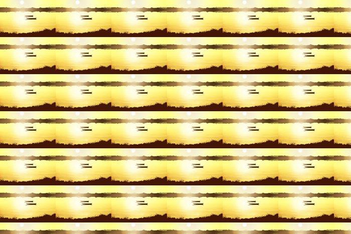 Vinylová Tapeta Západ slunce na jezeře - Afrika