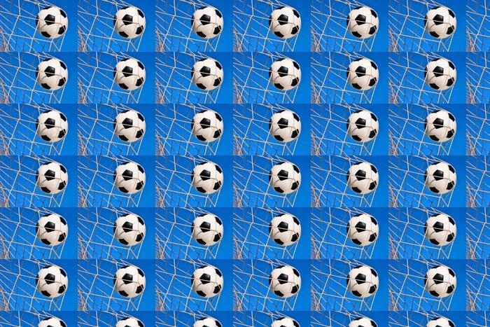 Vinylová Tapeta Fußball Treffer, mit blauem Himmel - Týmové sporty