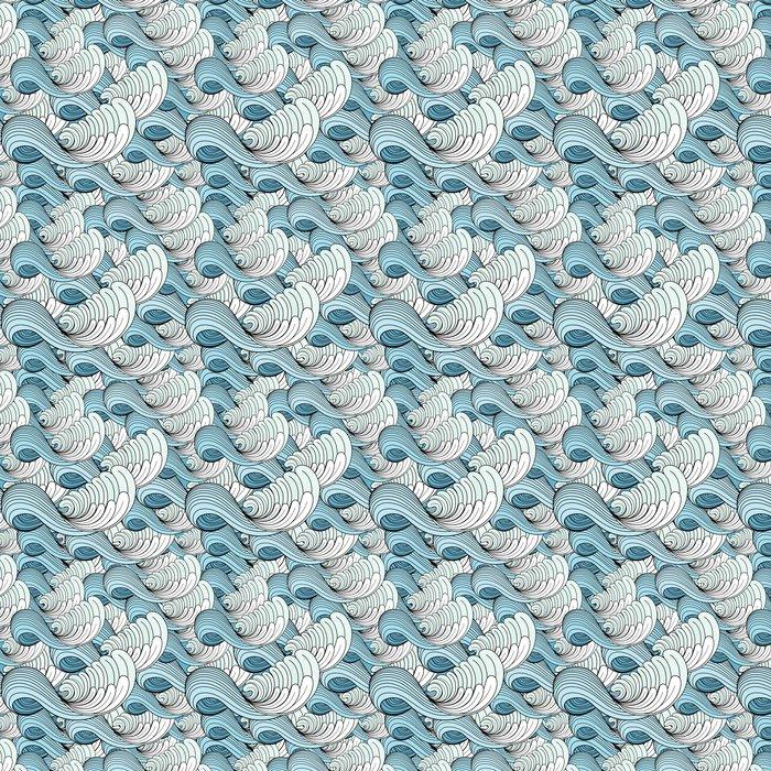 Vinylová Tapeta Grafické textury vln - Pozadí