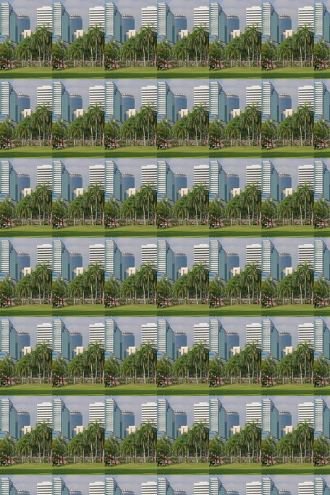 Papier peint à motifs vinyle Tropical Park City - Asie