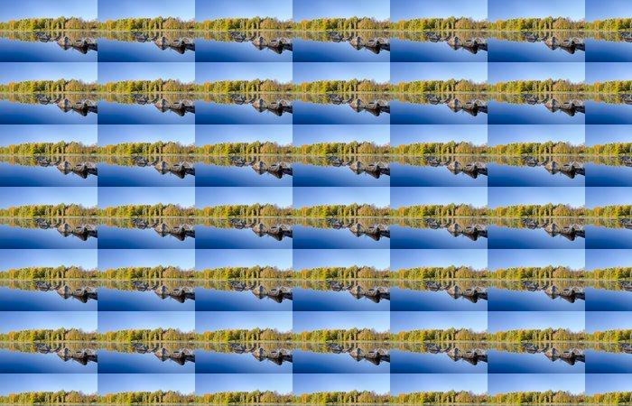 Vinylová Tapeta Podzimní jezero podrobnosti s odrazem účinkem - Roční období