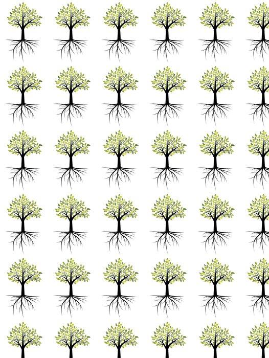 Vinylová Tapeta Strom s kořeny - Roční období