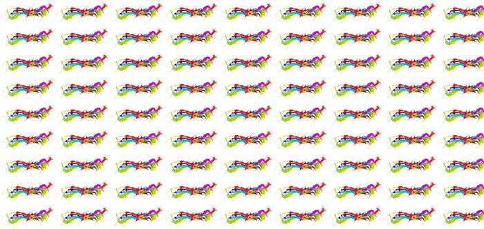 Vinylová Tapeta Barevné nátěr šplouchání izolovaných na bílém pozadí - iStaging