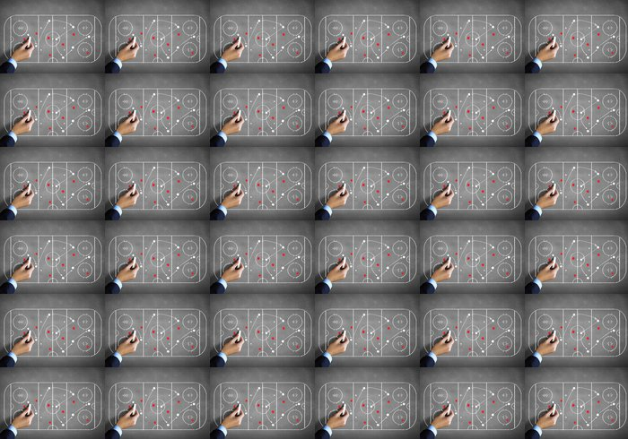 Vinylová Tapeta Hokej strategický plán - Části těla