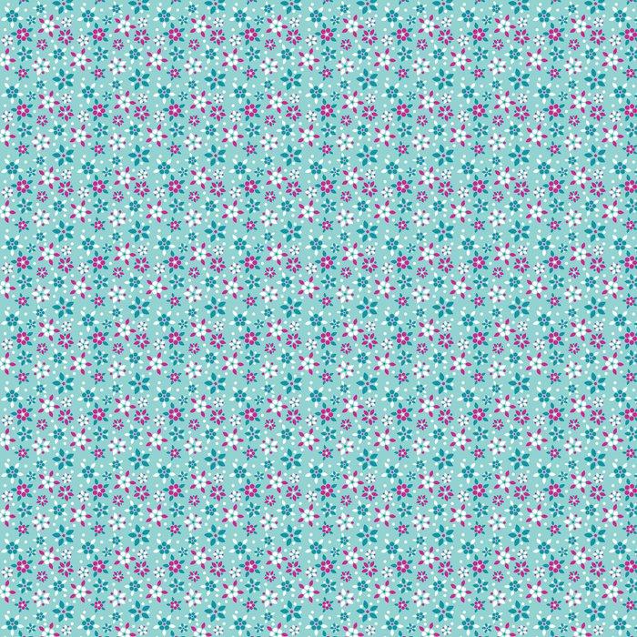 Vinylová Tapeta Bezešvé vzor s roztomilou květin - Pozadí