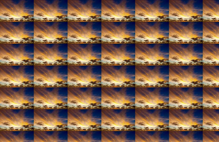 Vinyltapete Sonnenuntergang - Himmel