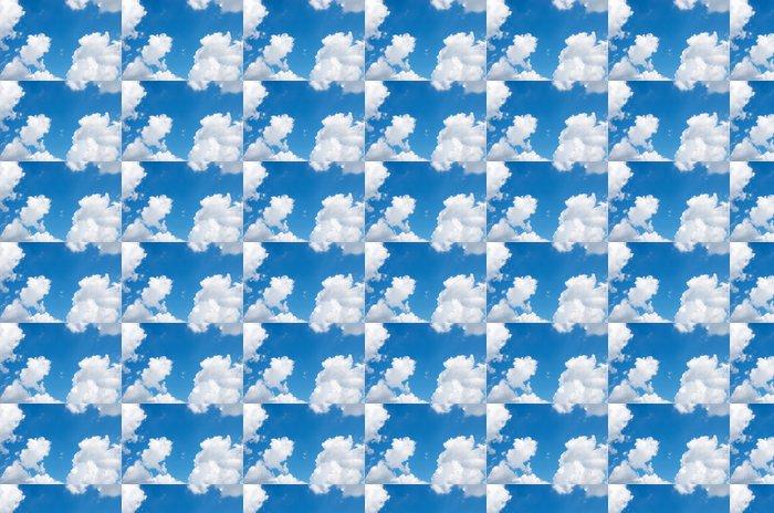 Vinylová Tapeta Modré pozadí oblohy s bílými mraky - Témata