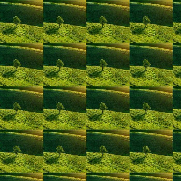 Vinylová Tapeta Zelené louce a strom - Roční období
