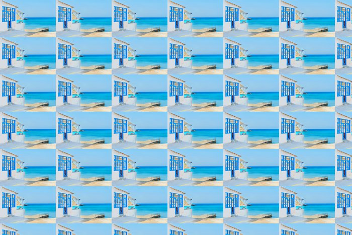 Vinylová Tapeta Řecko ostrov Syros, panoramatický výhled na písečné pláži v létě - Evropa