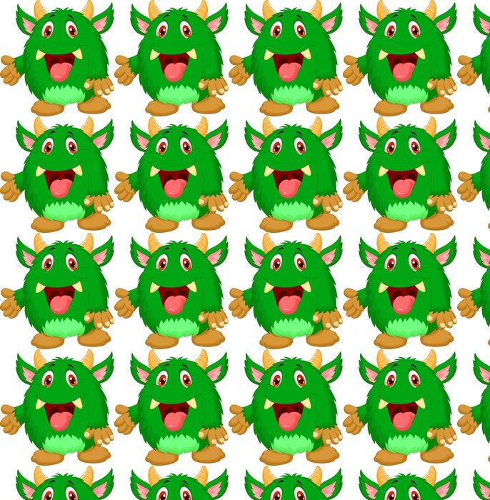Vinylová Tapeta Roztomilý zelené monstrum karikatury - Imaginární zvířata