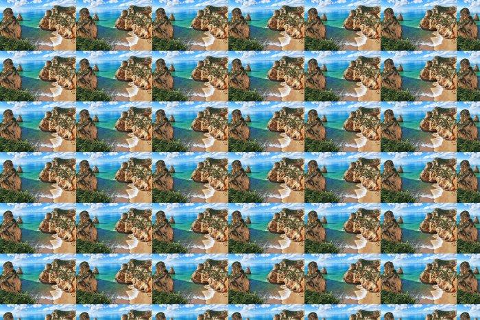 Vinylová Tapeta Krásná zátoka s horami a krásným výhledem na pobřeží. P - Prázdniny