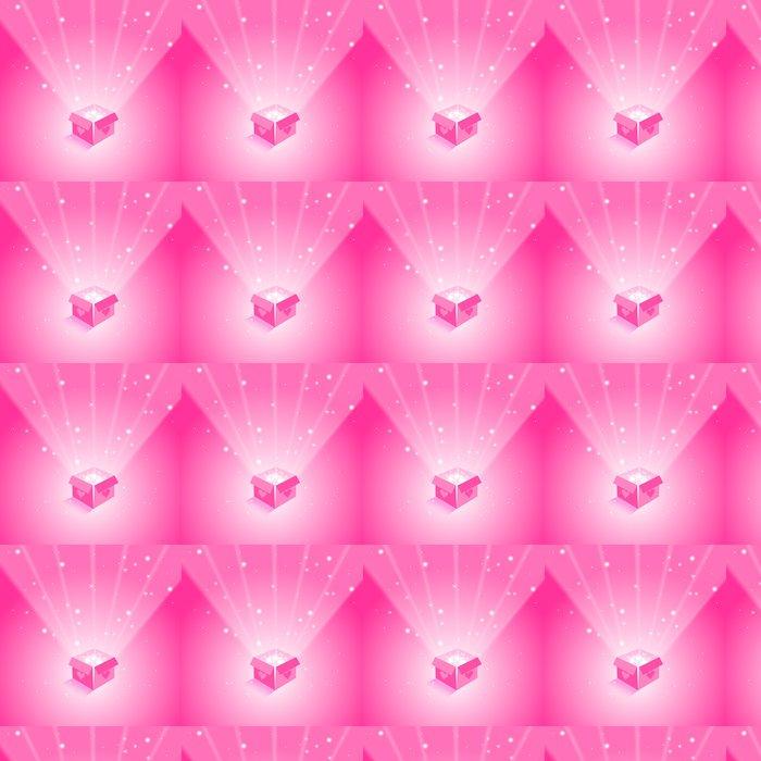 Vinylová Tapeta Magic Box s létajícími srdce na růžové pozadí - Mezinárodní svátky