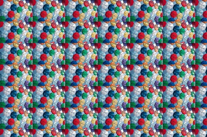 Vinylová Tapeta Barevné deštníky šikmý pohled - Na cestě
