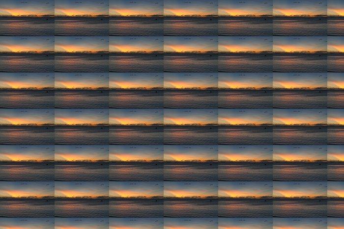 Vinylová Tapeta Nádherný západ slunce na tropickém ráji písčité pláže - Voda