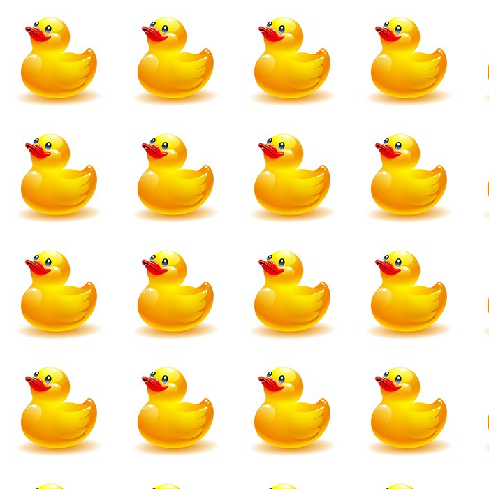 Tapete Gummi-Ente Vektor-Symbol • Pixers® - Wir leben, um zu verändern