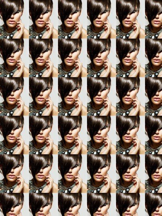 Vinylová Tapeta Fashion Glamour Beauty Girl With stylový účes a make-up - Témata