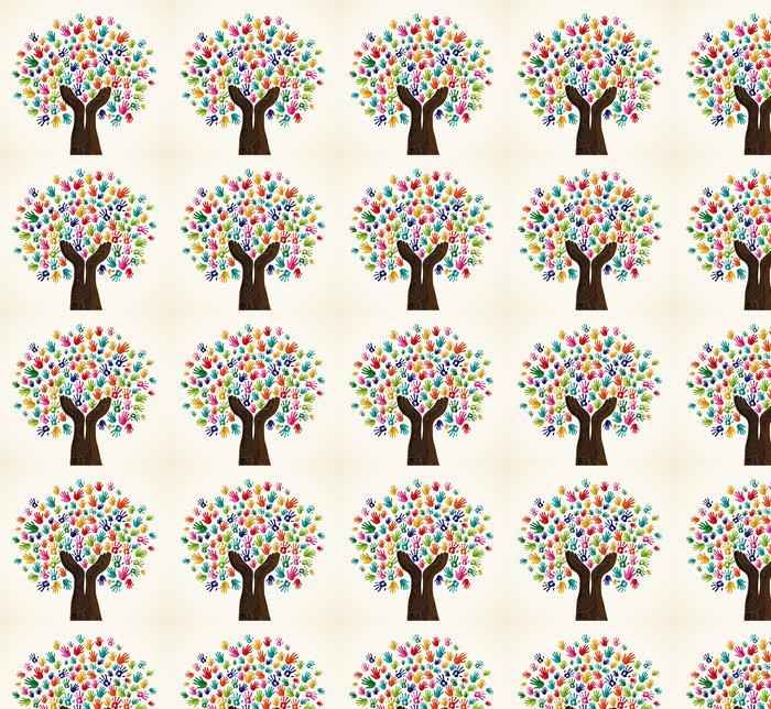 Vinylová Tapeta Barevné solidarity ve stromu - Stromy