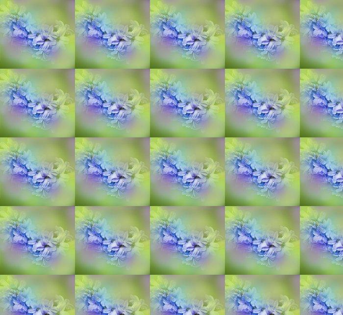 Vinylová Tapeta Pružina hyacint s kapkami rosy - Květiny
