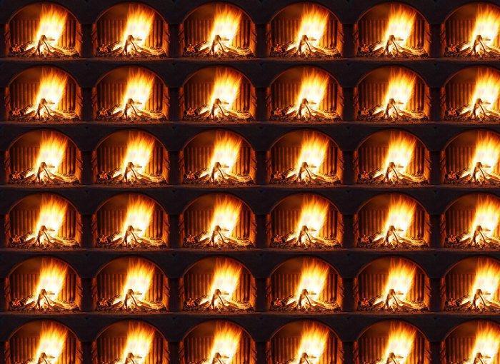 Vinylová Tapeta Krb s ohněm - Témata
