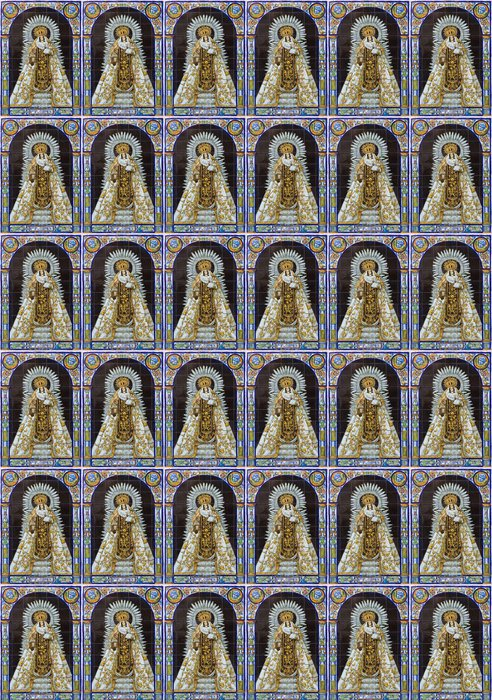 Seville - ceramic tiled Madonna (Nostra Senora del Carmen) Vinyl Wallpaper - Travel
