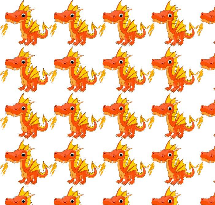 Vinylová Tapeta Cartoon oheň drak - Nálepka na stěny
